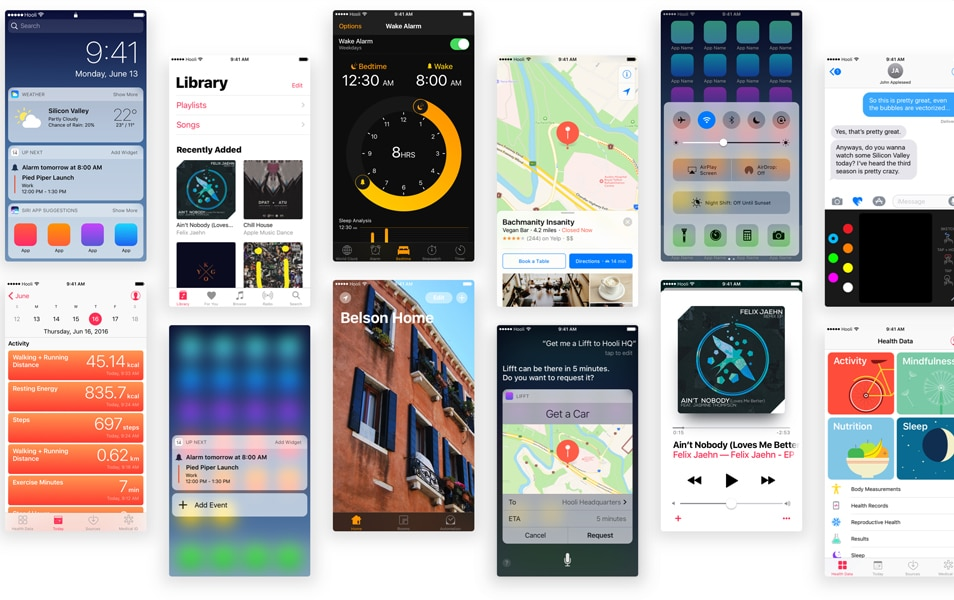 iOS 10 UI Kits