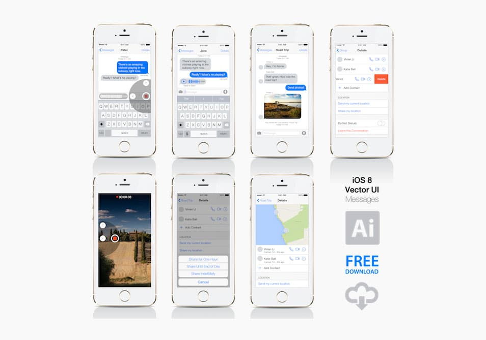 iOS 8 – Vector Messages UI
