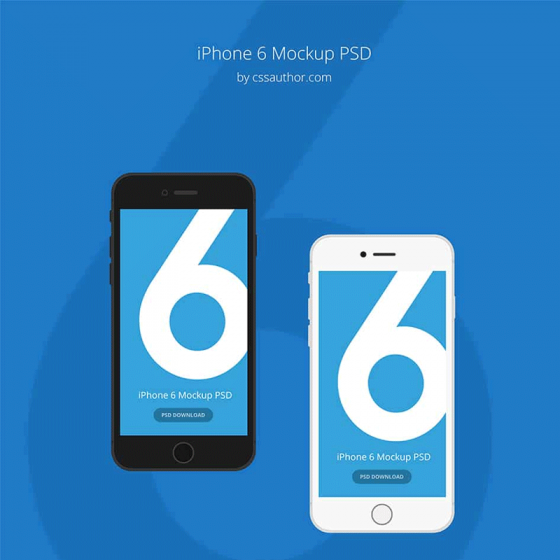 iPhone 6 Mockup Template PSD