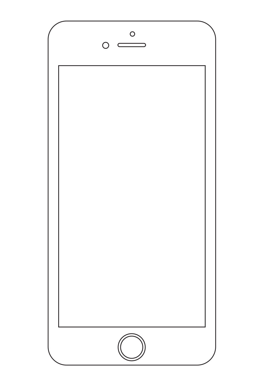 iPhone 6+ wireframe
