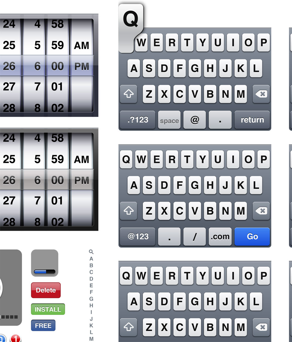 iPhone UI Vector Elements
