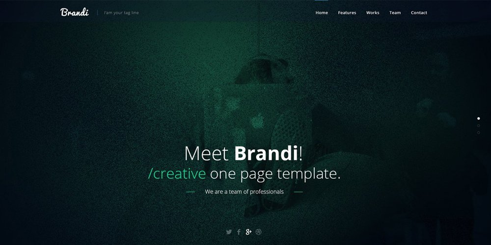 Brandi Creative One Page Multi-Purpose PSD Template