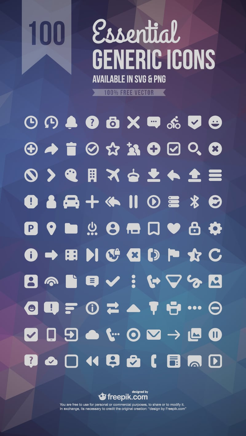 Essential Generic Icon Set