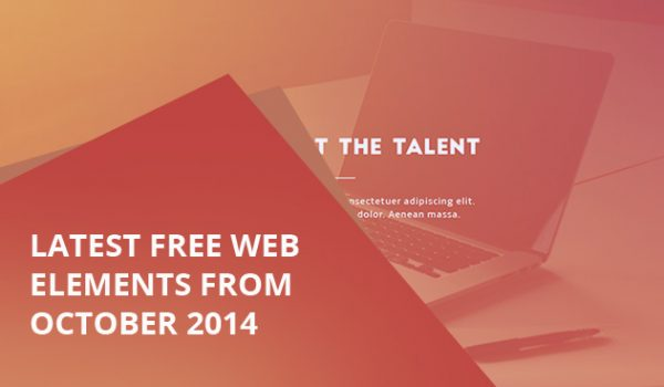 Latest Free Web Elements From October 2014