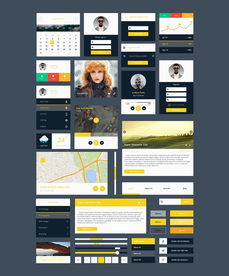 Latest Free Web Elements