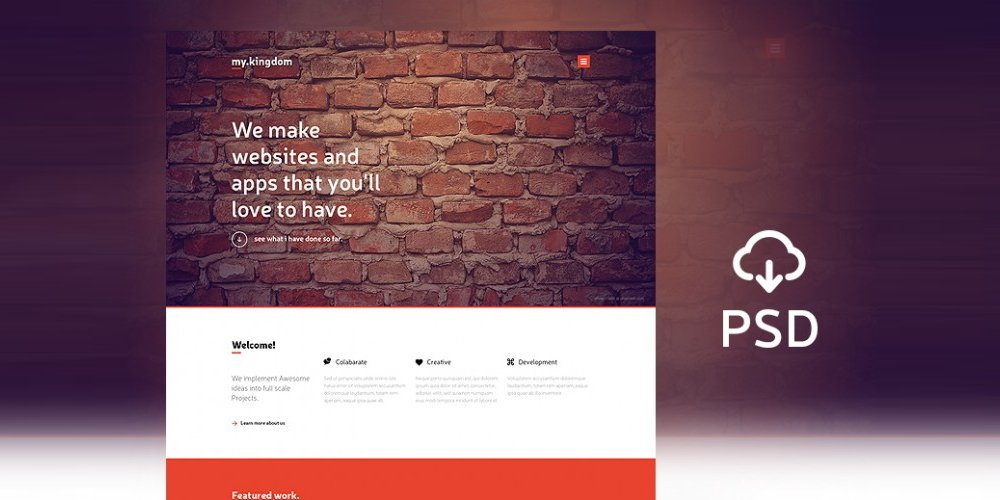 My Kingdom One Page PSD Template
