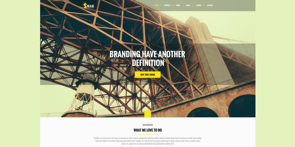 Smak One Page Web Template PSD