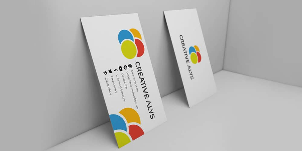 3D Business Card Mockup PSD