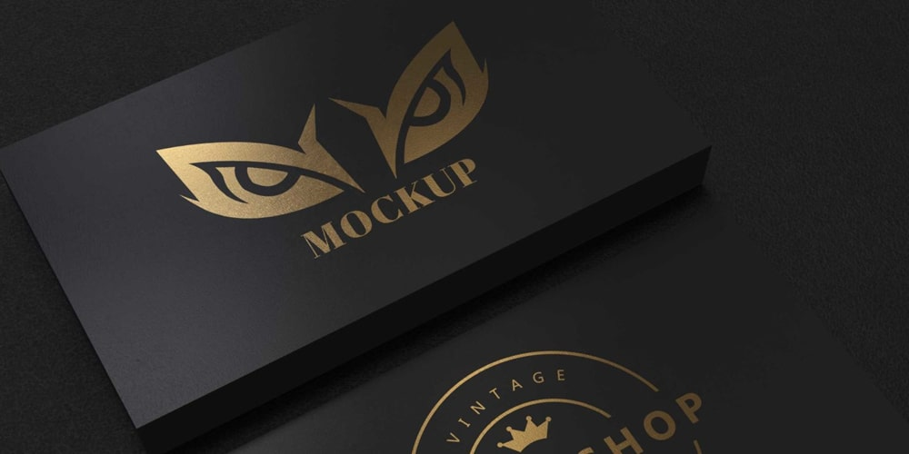 Adele Gold Business Card Mockup