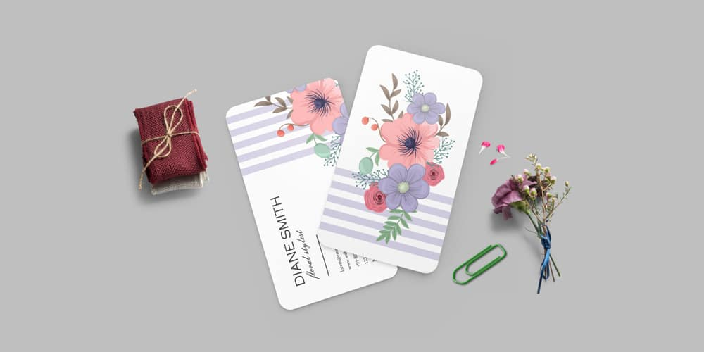 Beautiful Business Card Design Mockup