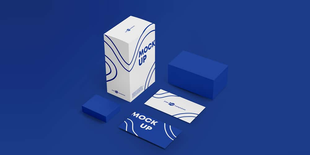 Box and Business Cards Mockups
