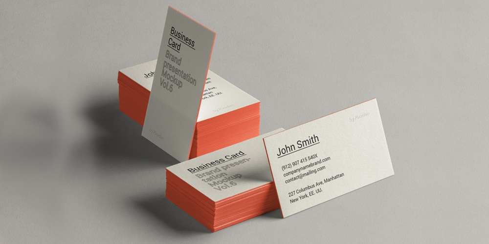 Brand Presentation Business Card Mockup