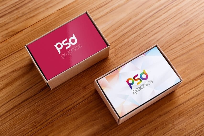 Business Card Box Mockup PSD