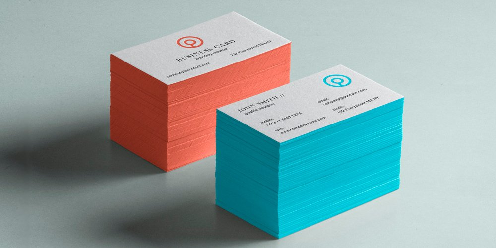 Business Card Brand Mockup PSD