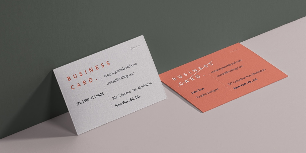Business Card Branding Mockup PSD