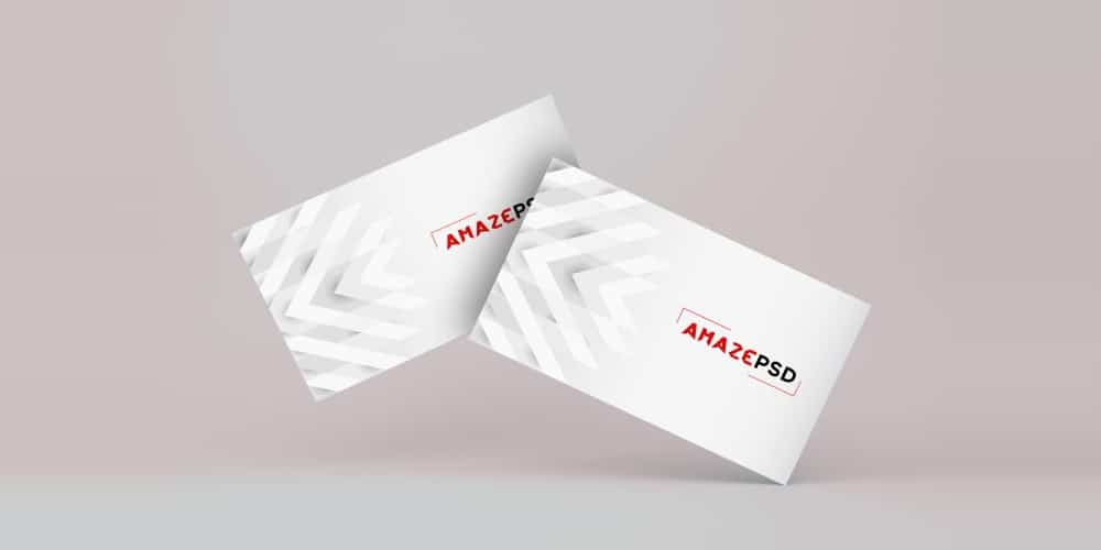 Business Card Floating Mockup