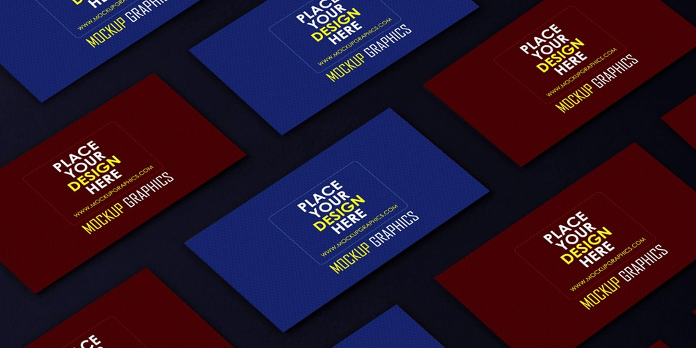Business Card Grid Mockup
