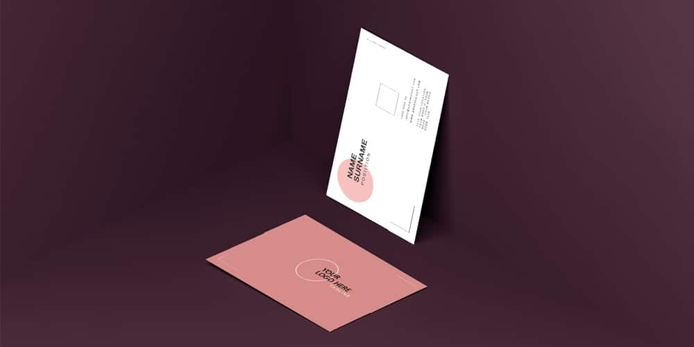 Business Card Mock up Editable PSD