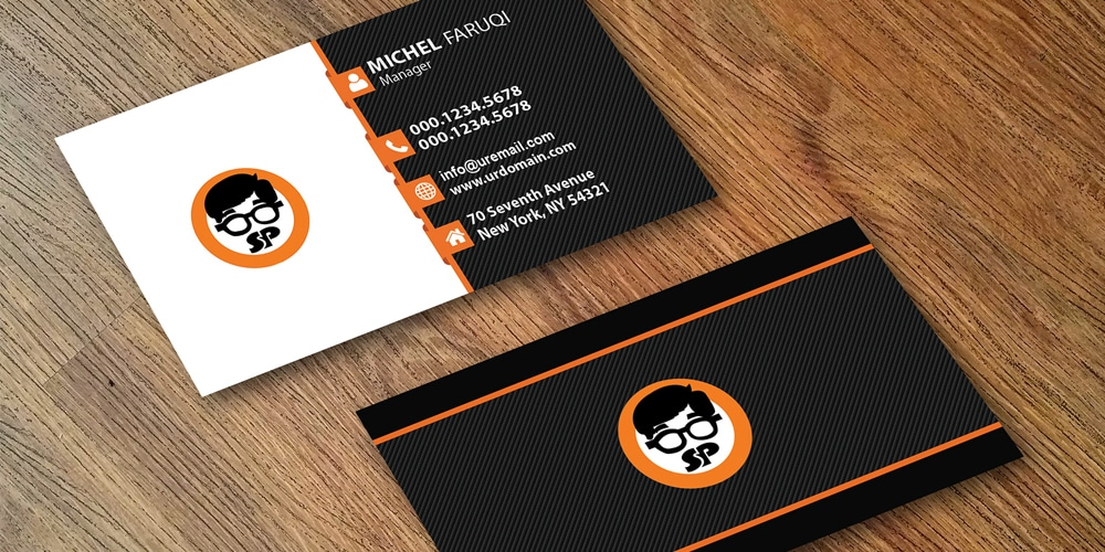 Business Card Mockup Design PSD