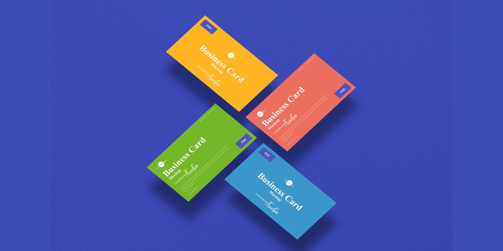 Business Card Mockup PSD For Branding