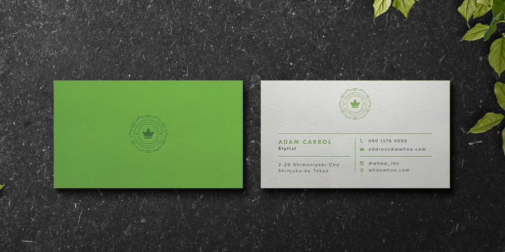 Business Card Mockup with Paper Texture