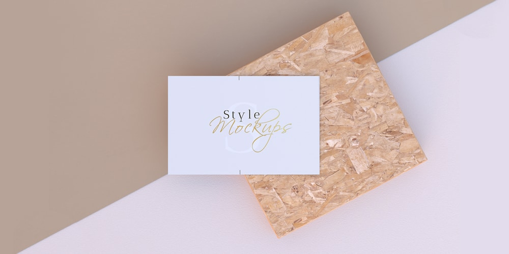 Business Card Mockups Scene PSD