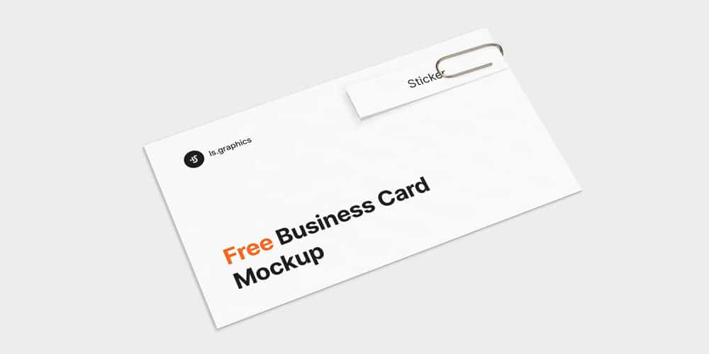 Business Card and Sticker Mockup