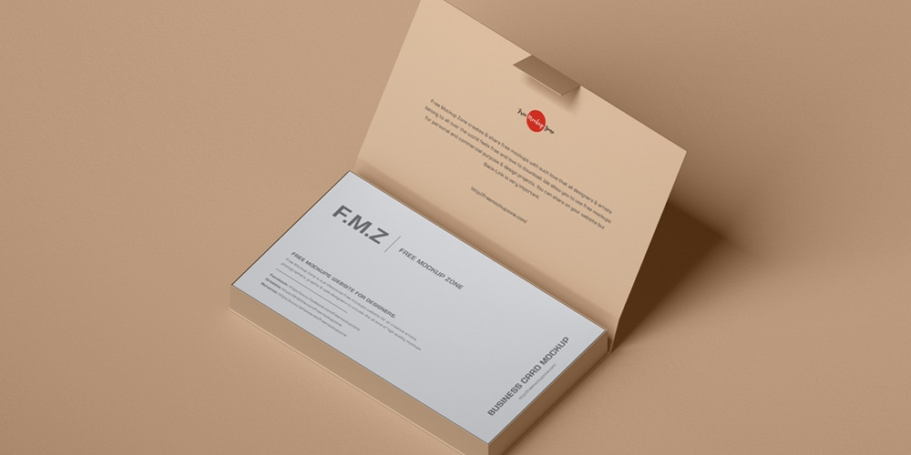 Business Cards in Box Mockup