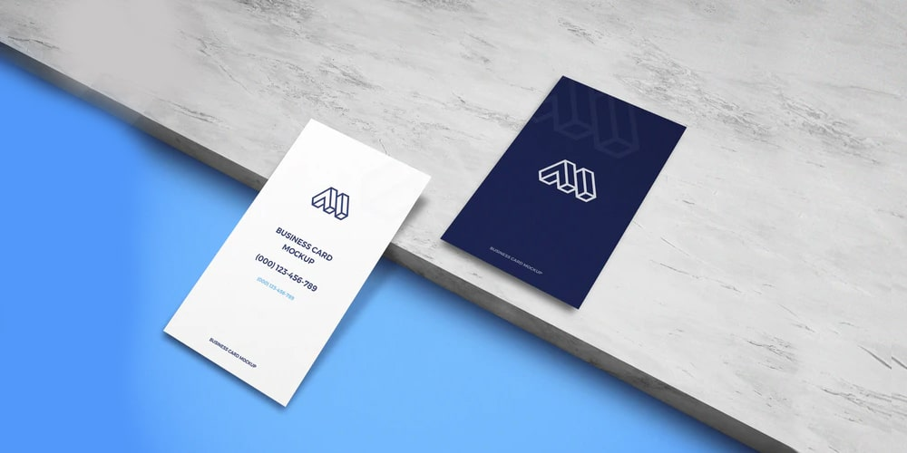 Business Cards on Ceramic Mockup