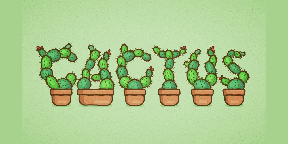 Cactus Text Effect in Adobe Illustrator