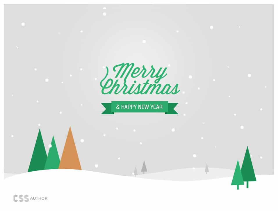 Christmas and New Year Greeting Card PSD