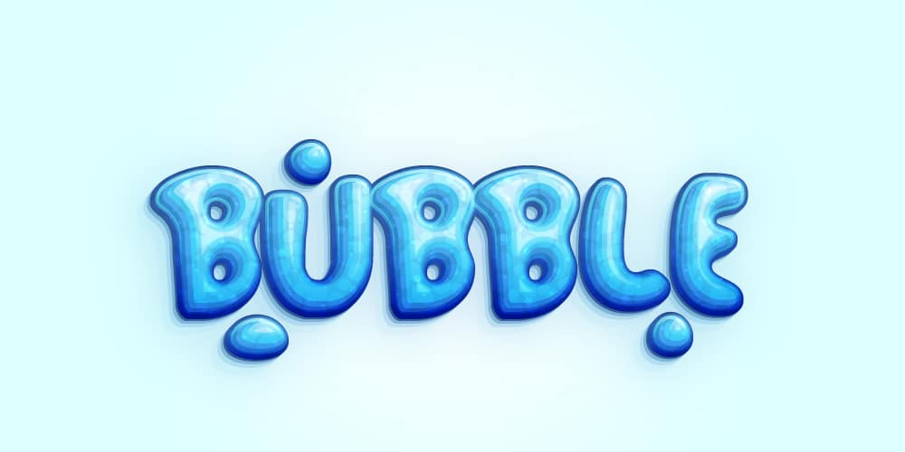Cool Bubble Font Text Effect