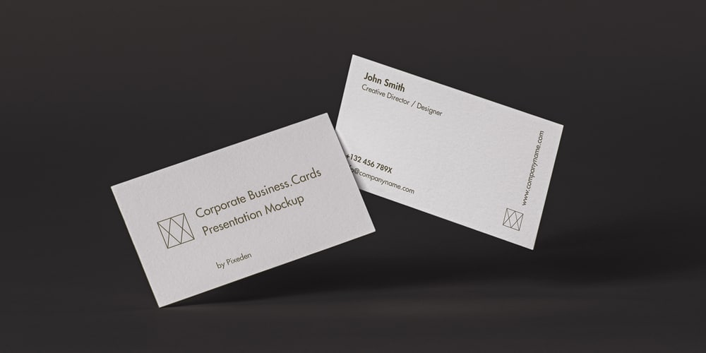 Corporate Business Card Mockup
