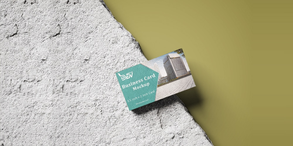Corporate Scene Printed Business Card Mockup