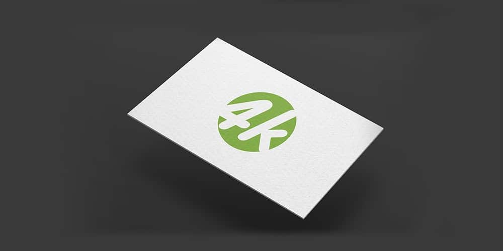 Dark Business Card MockUp PSD in 4k