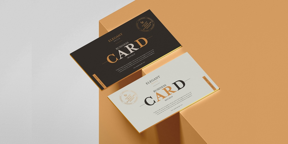 Elegant Brand Business Card Mockup