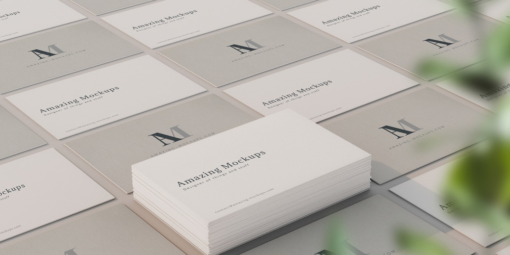 Elegant Business Cards Mockup