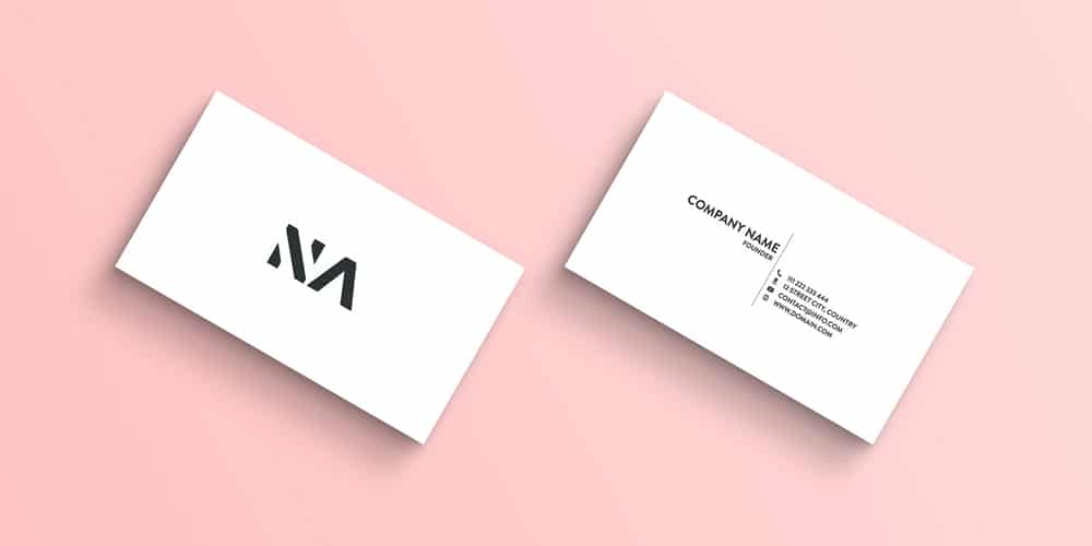 Flat Minimal Business Card Mockup PSD