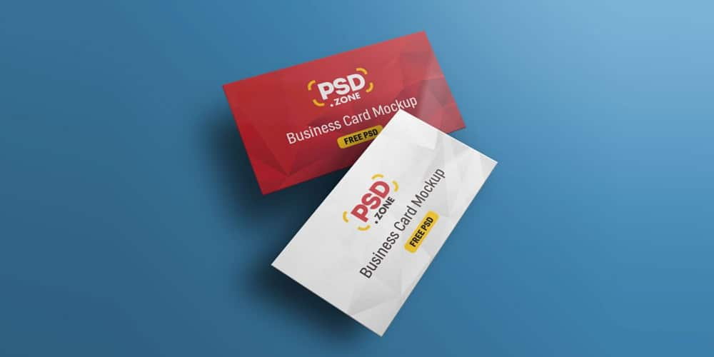 Floating Business Card Mockup Template PSD