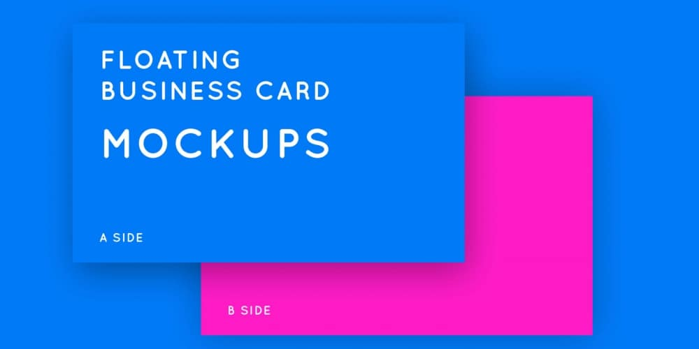 Floating Business Card Mockups PSD