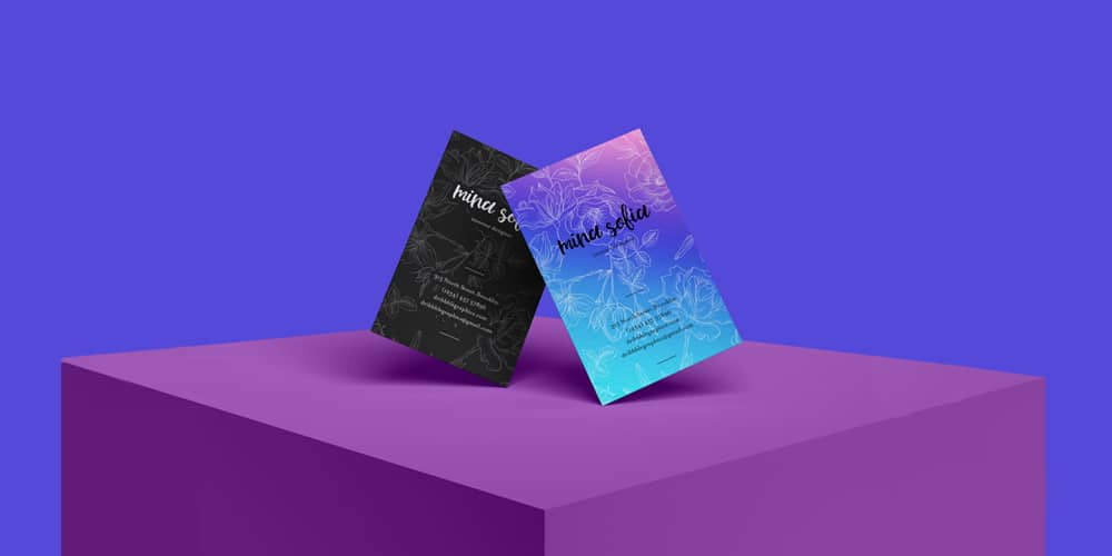 Free Brand Stylish Business Card Mockup PSD