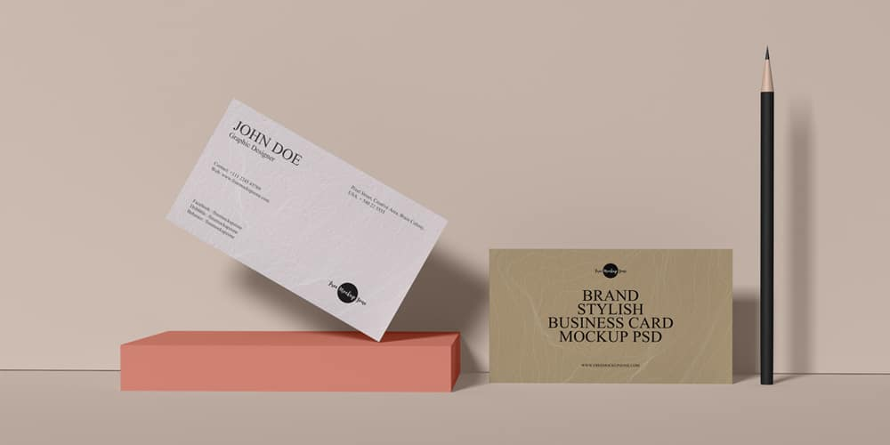 Free Brand Stylish Business Card