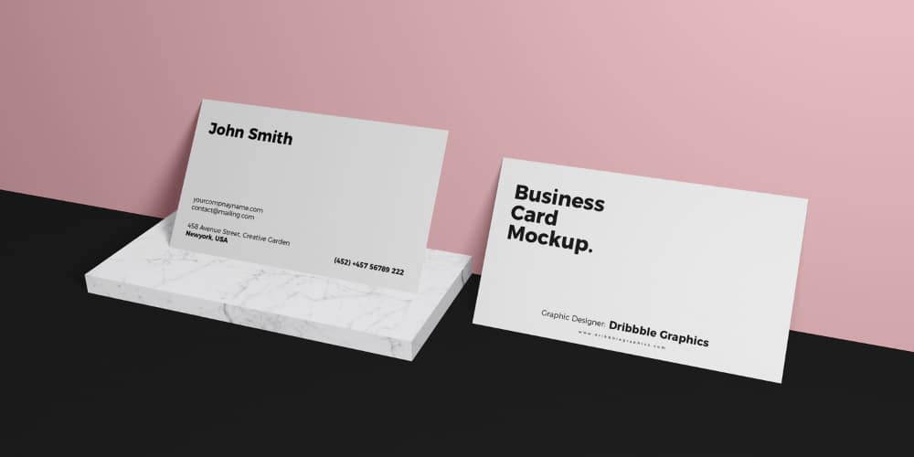 Free Business Card Brand Mockup PSD