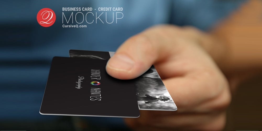 Free Business Card Hand Mockup