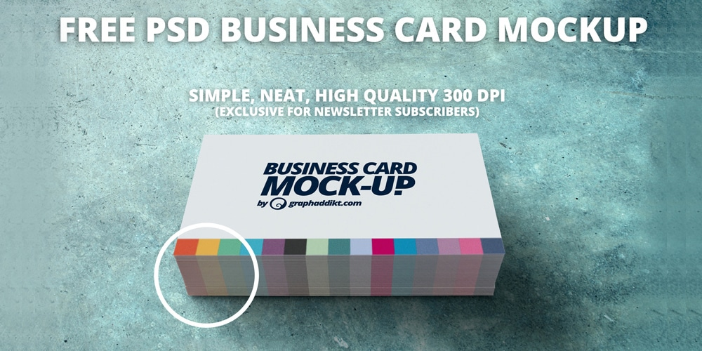 Free Business Card Mockup Design PSD