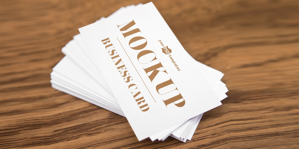 Free Business Card Mockup In PSD