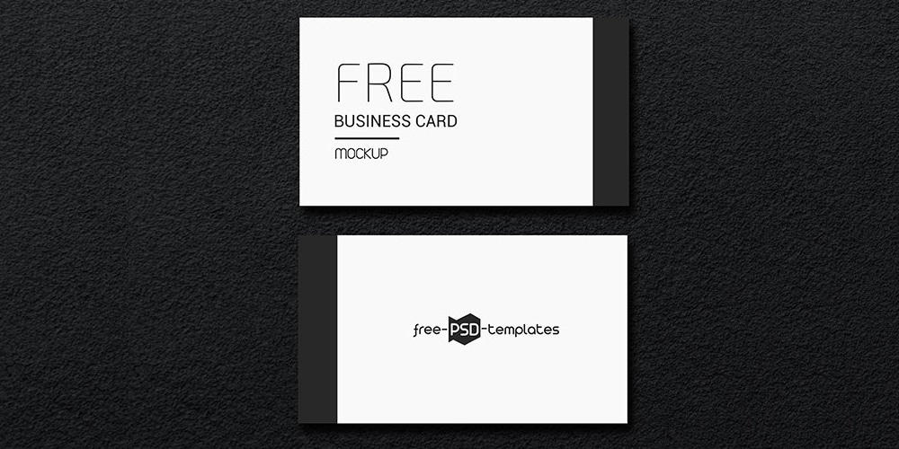 Free Business Card Mockup Set PSD