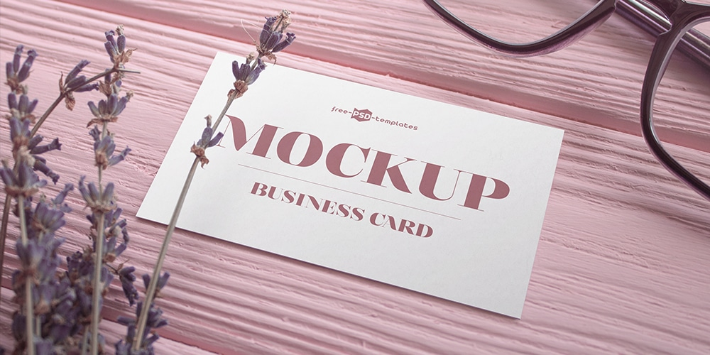 Free Business Card V02 Mockup PSD