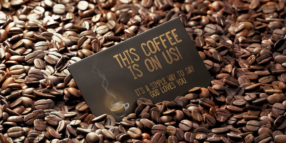 Free Coffee Business Card Mock Up PSD
