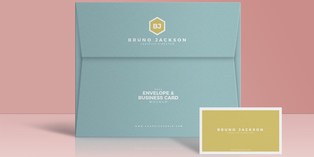 Free Envelope and Business Card Mockup PSD